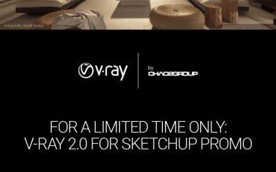 Khuyến Mãi V-Ray For Sketchup Giảm 50% Và Nâng Cấp Miễn Phí