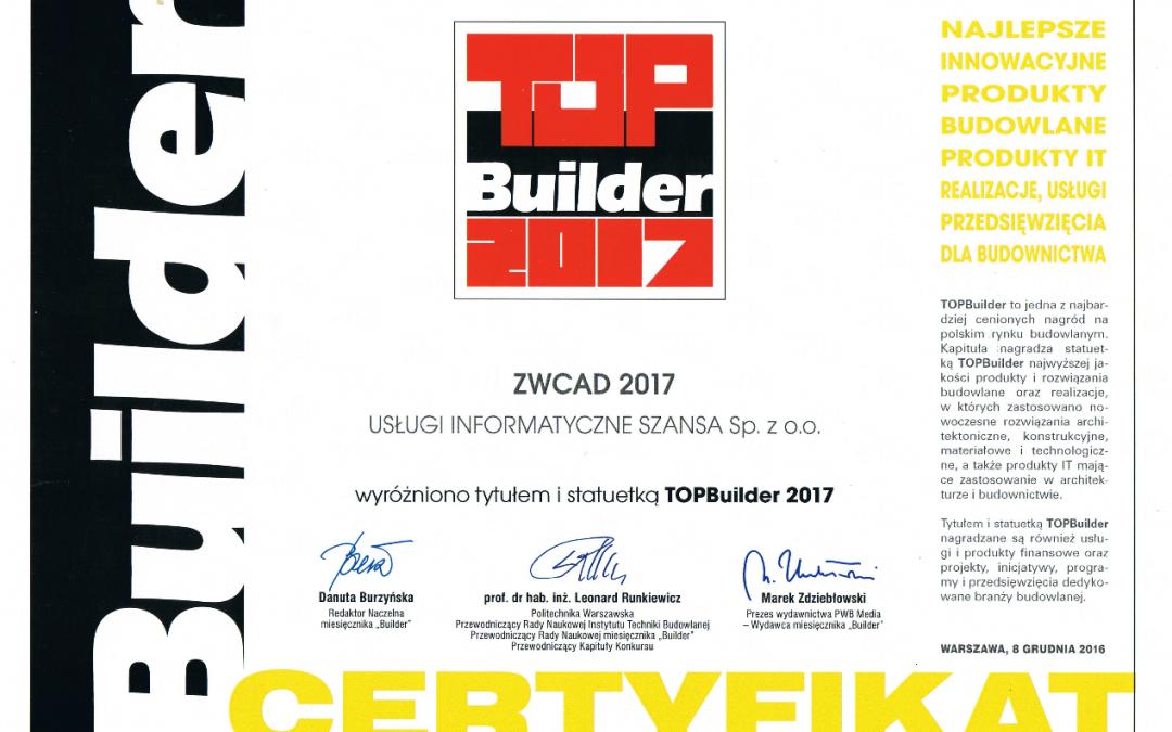 ZWCAD Thắng giải thưởng Prestigious Top Builder Award năm thứ sáu