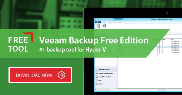NEW Veeam Backup Free Edition 9.5