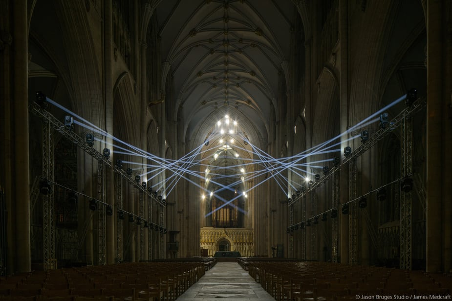 Jason Bruges Studio sử dụng Cinema 4D để trình diễn ánh sáng tại nhà thờ York Minster