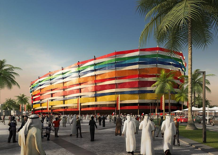 Các Studio tại HHVISION sử dụng Cinema 4D thiết kế các sân vận động cho Thế vận hội FIFA 2022 tại Qatar.
