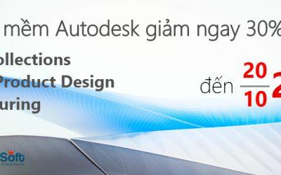 Khuyến mãi Autodesk Collections được giảm ngay 30% đến 10/2017