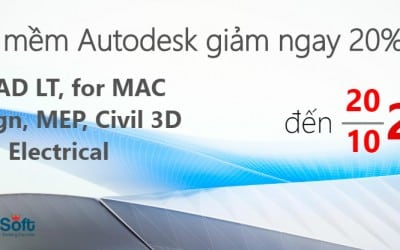 AutoCAD 2018 khuyến mãi đến 10/2017