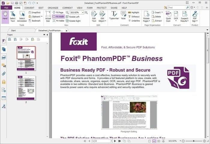 Foxit PhantomPDF Business 8 là trình chỉnh sửa PDF linh hoạt và phù hợp