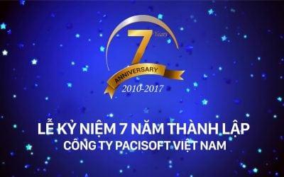 PACISOFT tổ chức thành công lễ kỉ niệm 7 năm thành lập công ty