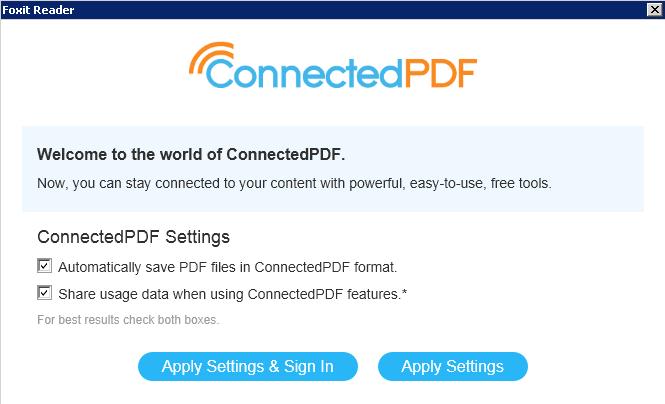 Foxit PhantomPDF 9.0 và connectedpdf 2.0