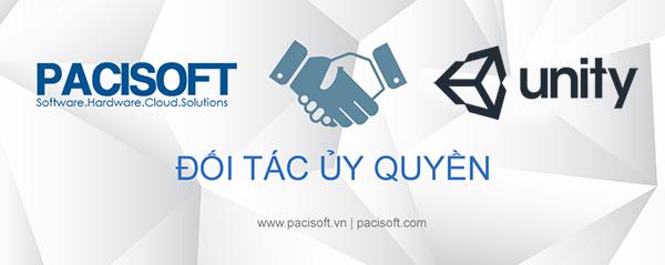 PACISOFT trở thành đại lý và đối tác uỷ quyền của Unity 3D