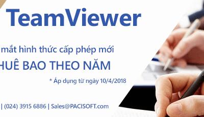 Khuyến mãi 25% khi chuyển đổi từ giấy phép vĩnh viễn sang thuê bao dành cho khách hàng của TeamViewer