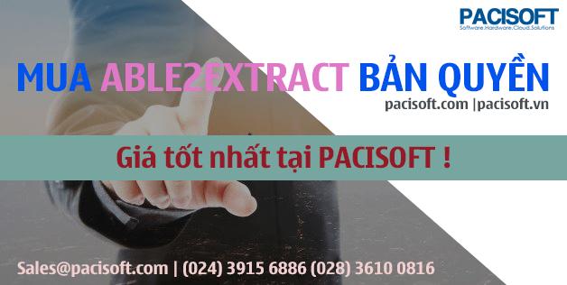 Tư vấn mua Able2Extract bản quyền