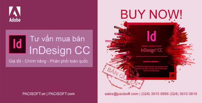 Tư vấn mua InDesign bản quyền vĩnh viễn
