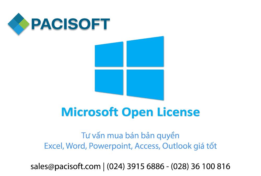 Tư vấn mua bán bản quyền Excel, Word, Powerpoint, Access, Outlook OLP giá tốt