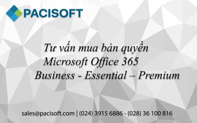 Tư vấn mua Microsoft Office 365 Business – Essential – Premium bản quyền
