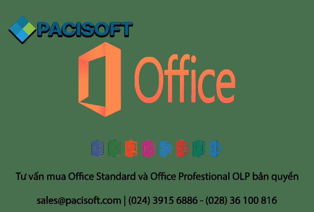 Tư vấn mua Office Standard và Office Profestional OLP bản quyền