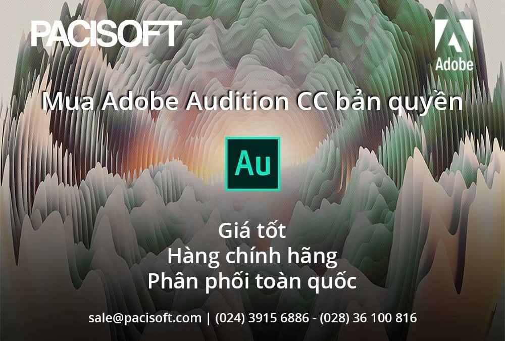 Hướng dẫn mua bán Adobe Audition CC bản quyền