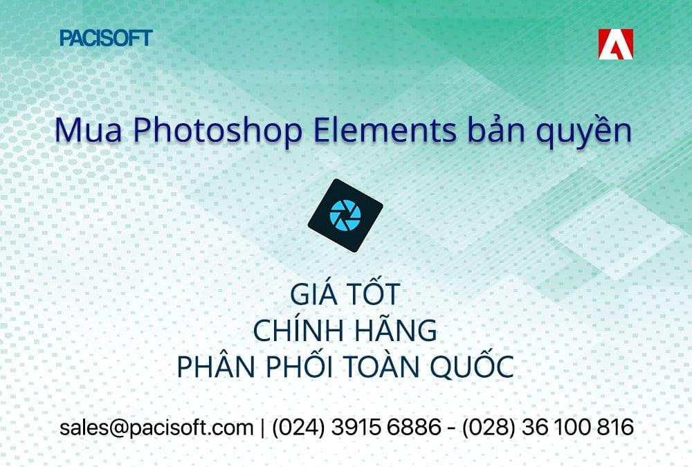 Hướng dẫn mua bán Adobe Photoshop Elements bản quyền