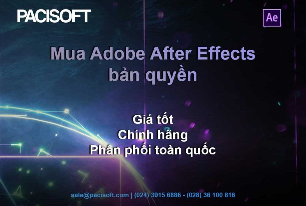 Hướng dẫn mua bán After Effects bản quyền
