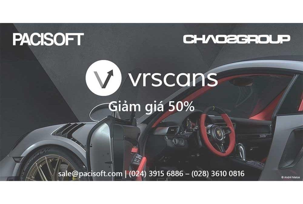 Giảm giá 50% VRscans cho khách hàng đã mua V-Ray Next