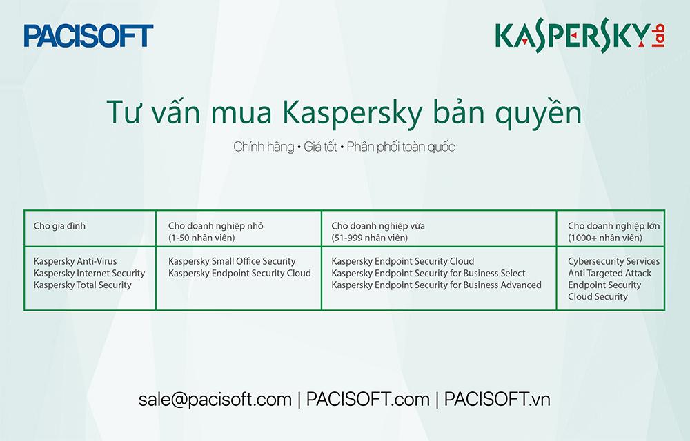 Tư vấn mua Kaspersky bản quyền