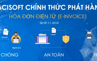 PACISOFT thông báo phát hành hóa đơn điện tử (E-invoice) từ 09/11/2018
