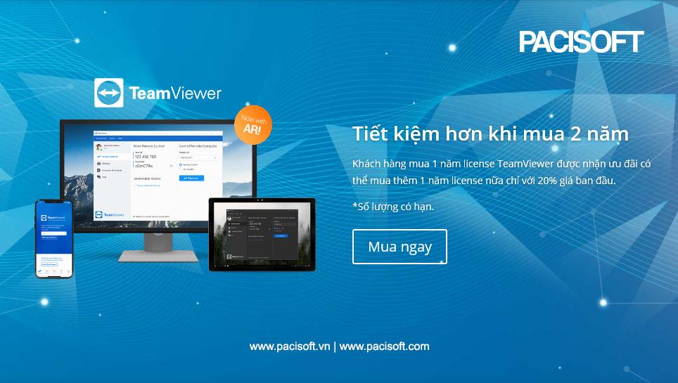 TeamViewer – Tiết kiệm hơn khi mua từ 2 năm