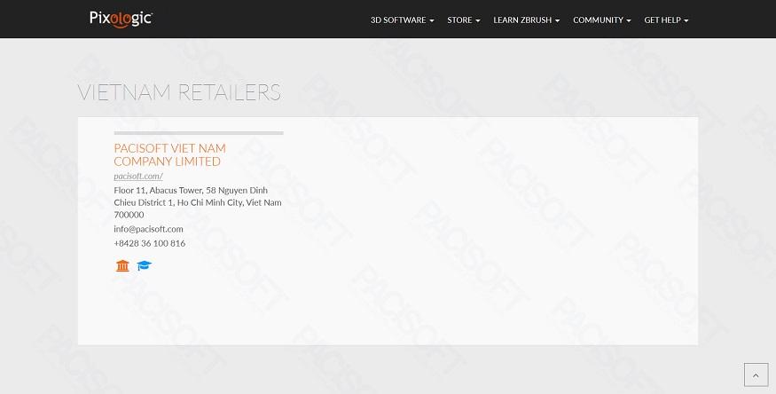 PACISOFT Việt Nam là Đại lý & nhà phân phối ZBrush bản quyền