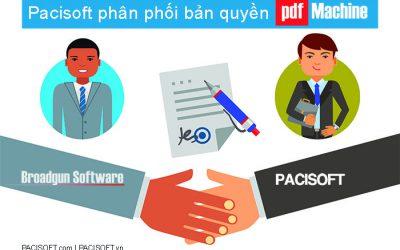 PACISOFT phân phối bản quyền phần mềm PDFMachine chính hãng