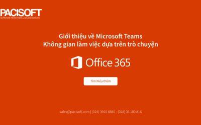 Giới thiệu về Microsoft Teams – không gian làm việc dựa trên trò chuyện trong Office 365