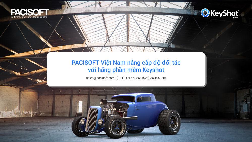 PACISOFT nâng cấp độ đối tác với hãng phần mềm Keyshot