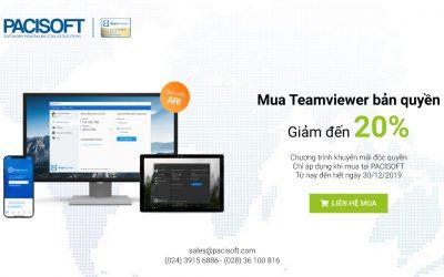 Khuyến mãi độc quyền mua Teamviewer tại Pacisoft giảm đến 20%