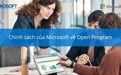 Chính sách của Microsoft về Open Program đối với các bên tham gia