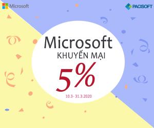 Microsoft sale off 5%