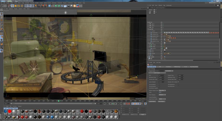 tính năng Motion Tracker của Cinema 4D