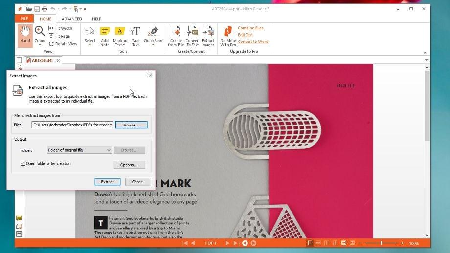 Nitro PDF Reader cải tiến về đọc, chú thích và chuyển đổi