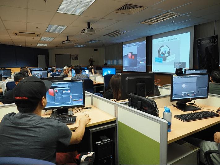 Cinema 4D R19 workshop tại Trung tâm đào tạo ủy quyền của MAXON tại Singapore