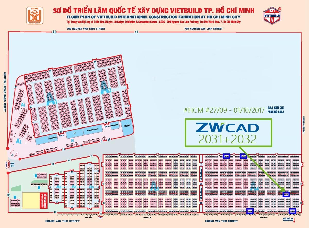 THƯ MỜI: PACISOFT & ZWCAD 2018 sẽ tham gia Vietbuild 2017 (Hochiminh) vào 27/09 - 01/10