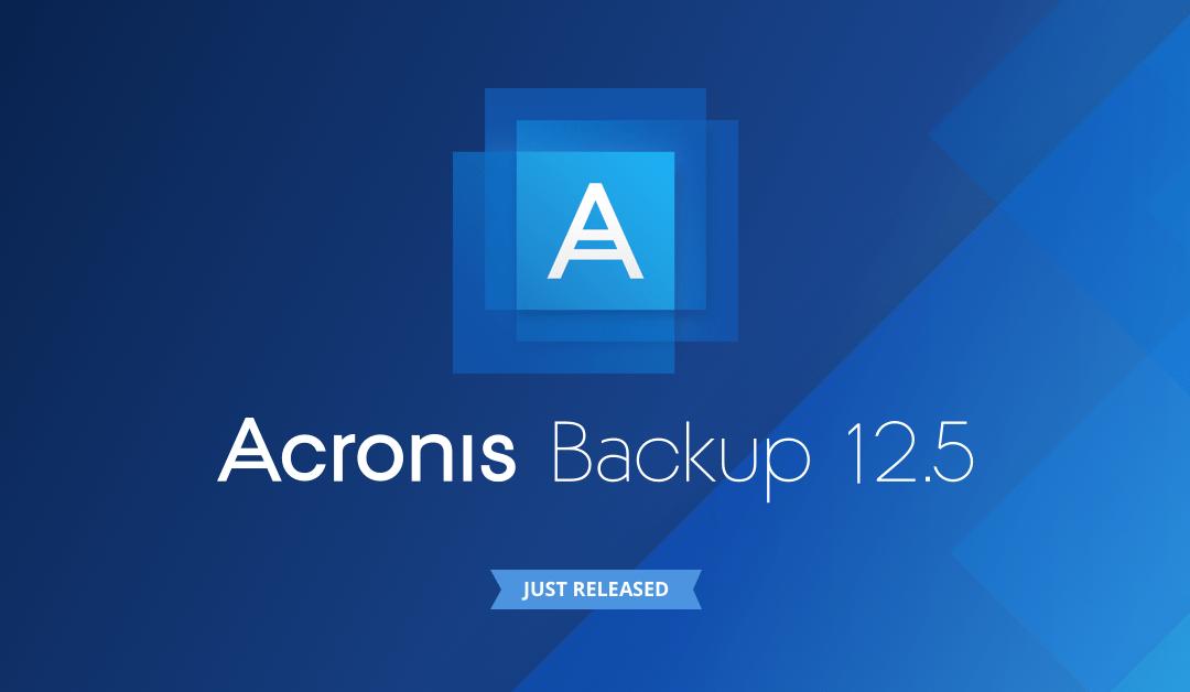 Acronis Backup 12.5 Advanced