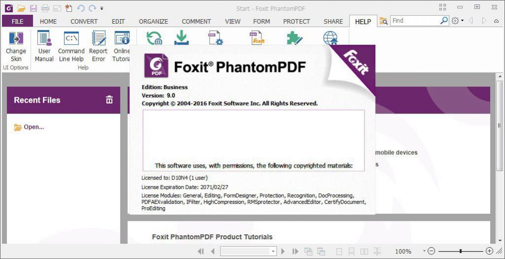 Foxit PhantomPDF 9.0