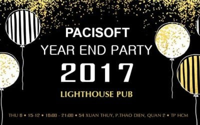Pacisoft Vietnam tổ chức sự kiện Year End Party 2017