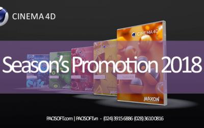 Chương trình khuyến mãi CINEMA 4D Season's Promotion 2018