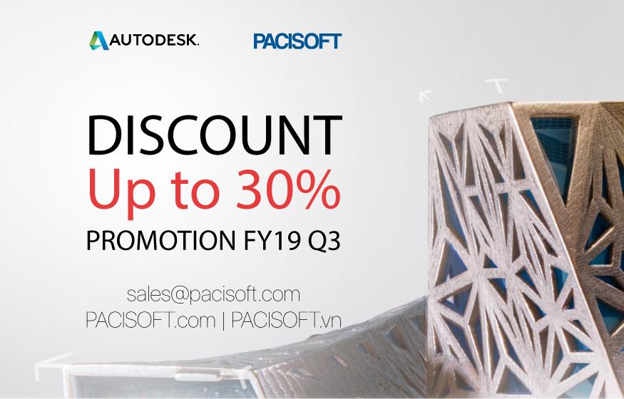 Chương trình khuyến mãi Autodesk giảm giá đến 30% FY19 Q3