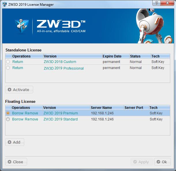 chính sách cấp phép zw3d
