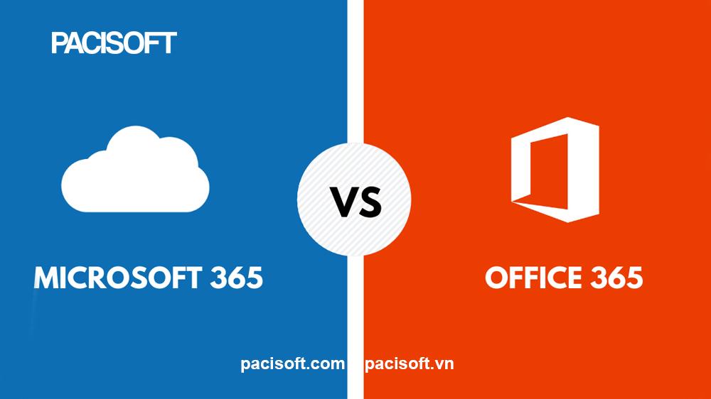 So sánh Microsoft 365 và Office 365