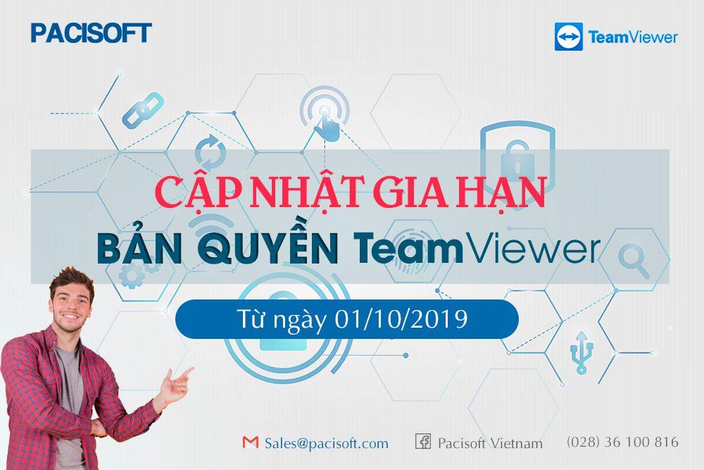 Cập nhật cách gia hạn bản quyền Teamviewer từ 01/10/2019