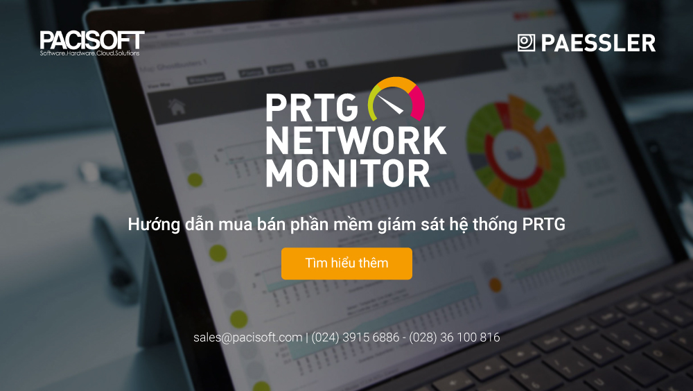 Hướng dẫn mua bán phần mềm giám sát hệ thống PRTG