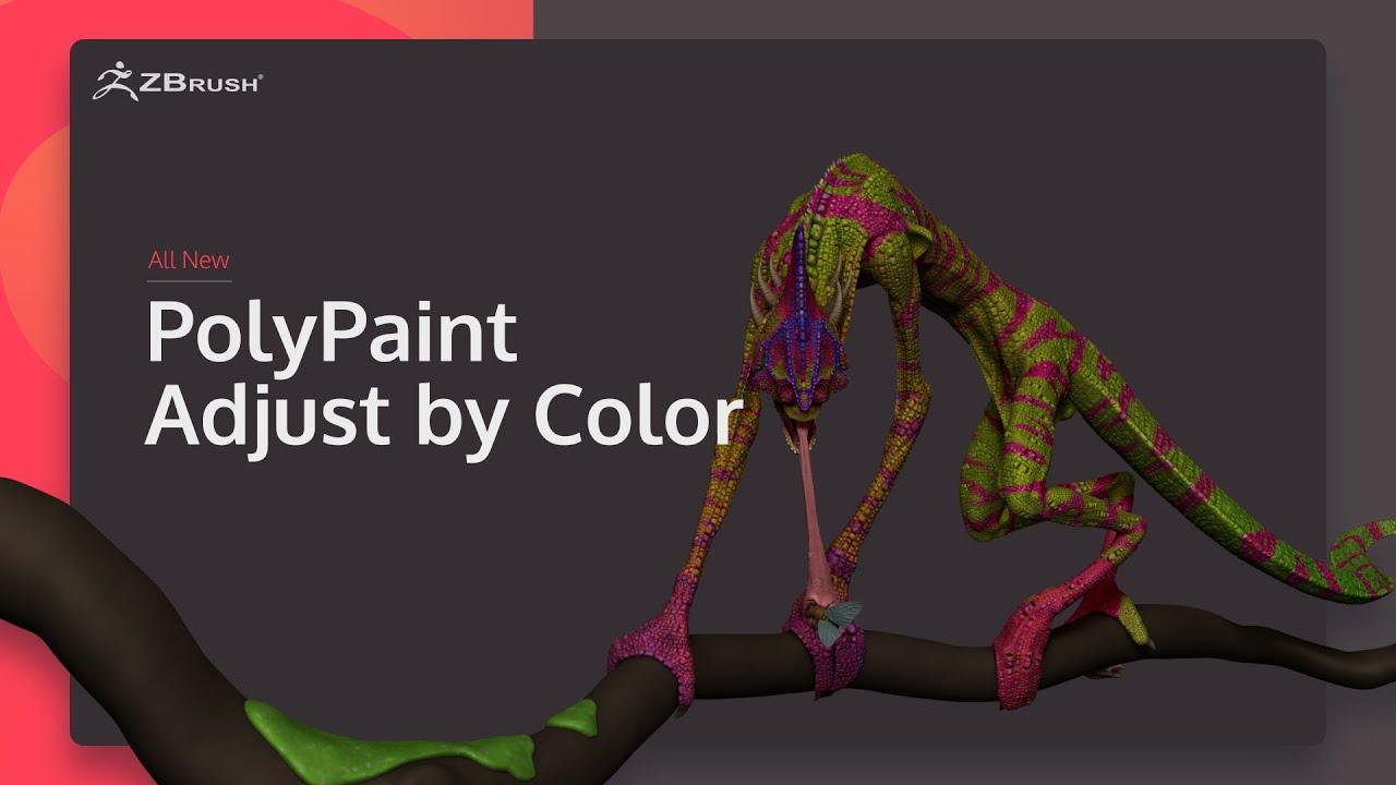 ZBrush 2020 - Điều chỉnh PolyPaint theo màu