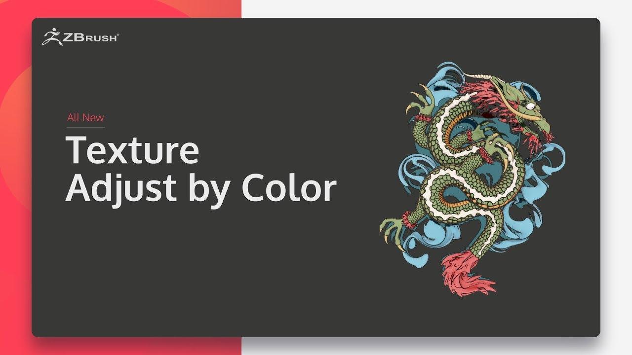 ZBrush 2020 - Điều chỉnh họa tiết theo màu sắc