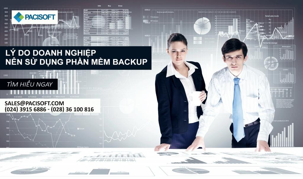 Lý do doanh nghiệp nên sử dụng phần mềm Backup