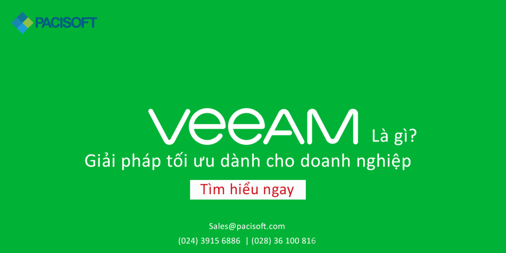 Veeam - Giải pháp tối ưu dành cho doanh nghiệp