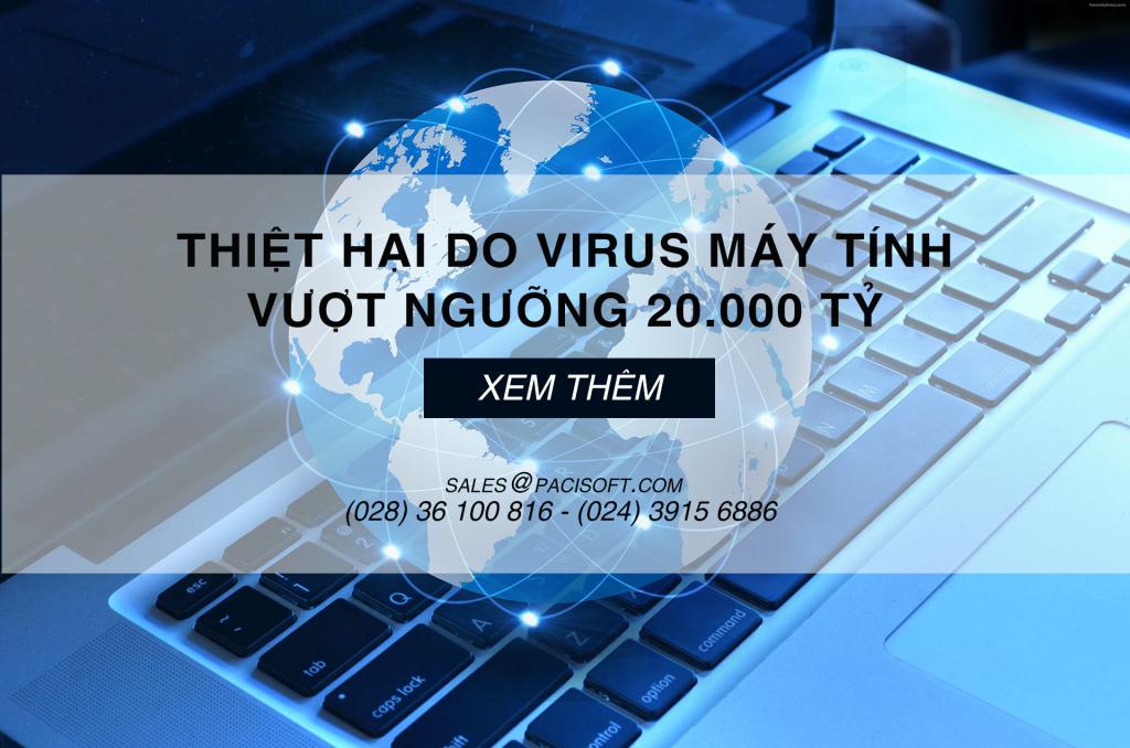Thiệt hại do Virus máy tính vượt ngưỡng 20.000 tỷ năm 2019
