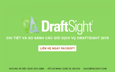 Chi tiết và so sánh các gói dịch vụ DraftSight 2019